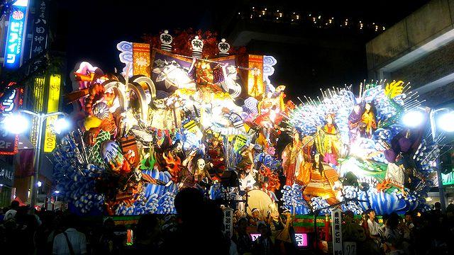 八戸三社大祭 2014年7月31日 前夜祭 日本酒ショップくるみや